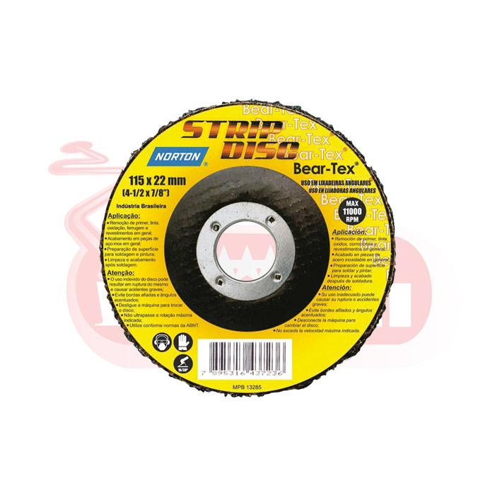 DISCO DE DESBASTE NORTON - STRIP DISC 115X22MM