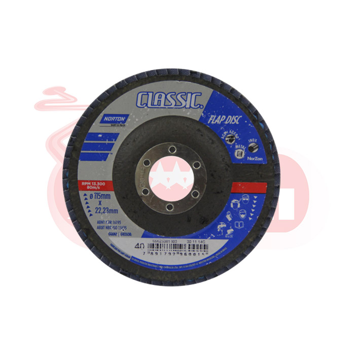 FLAP DISC CLASSIC NORTON GRAO 40 115X22,23mm